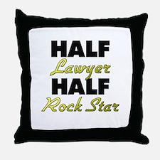 Half Lawyer Half Rock Star Throw Pillow