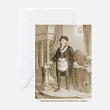 Brother Ben Franklin Greeting Card