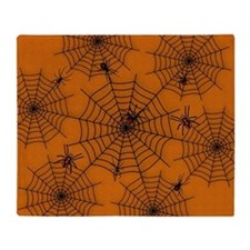 Halloween Spider Web Throw Blanket