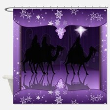 Three Wise Men Christmas Shower Curtain