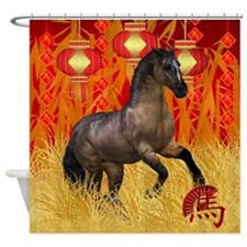 Chinese New Year, Year Of The Horse Shower Curtain