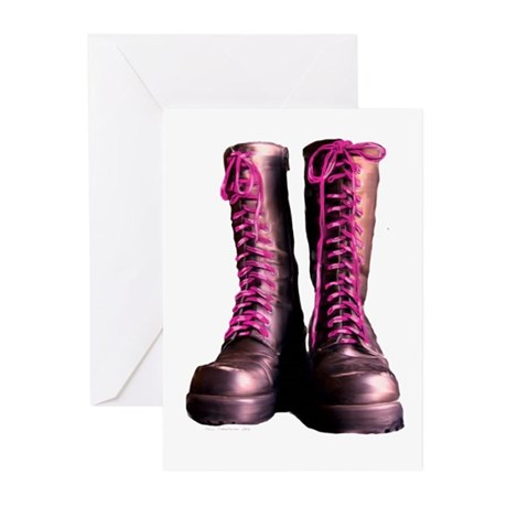 Pink Laces Greeting Cards (Pk of 10)