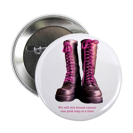 """Pink Steps 2.25"""" Button (10 pack)"""