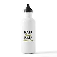 Half Judge Half Rock Star Water Bottle