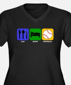 Eat Sleep Softball Plus Size T-Shirt