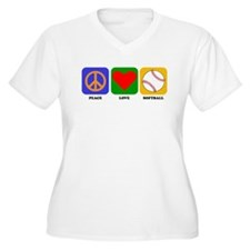 Peace Love Softball Plus Size T-Shirt