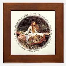 Lady of Shalott Framed Tile