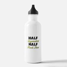 Half Hypnotist Half Rock Star Water Bottle