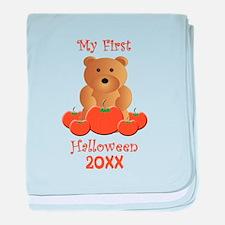 My First Halloween Customizable Year baby blanket