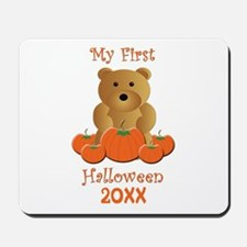 My First Halloween Customizable Year Mousepad