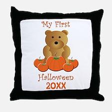 My First Halloween Customizable Year Throw Pillow