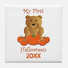 My First Halloween Customizable Year Tile Coaster
