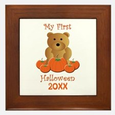 My First Halloween Customizable Year Framed Tile