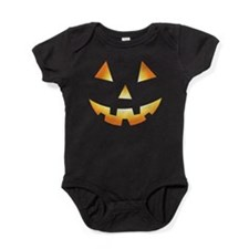 Pumpkin Face Halloween Baby Bodysuit