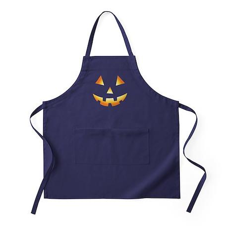 Pumpkin Face Halloween Apron (dark)