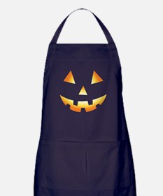 Pumpkin Face Halloween Apron (dark)