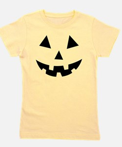 Pumpkin Face Halloween Girl's Tee