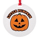 Pumpkin Round Ornament