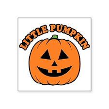 "Little Pumpkin Square Sticker 3"" x 3"""