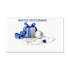 Blue And Silver Merry Christmas Car Magnet 20 x 12