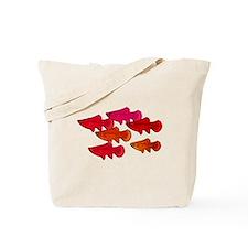 School of Scarlet Tetras copy Tote Bag