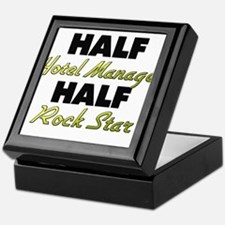 Half Hotel Manager Half Rock Star Keepsake Box