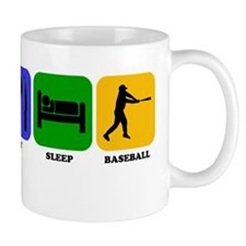 Eat Sleep Baseball Mugs
