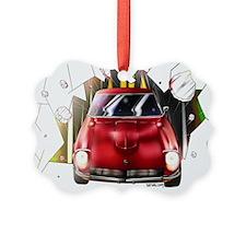 Red 240Z Burst Ornament