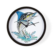 Leaping Marlin copy Wall Clock