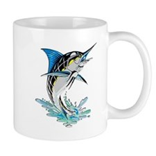 Leaping Marlin copy Mugs