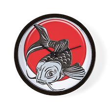 Japanese Koi Logo copy Wall Clock