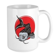 Japanese Koi Logo copy Mugs