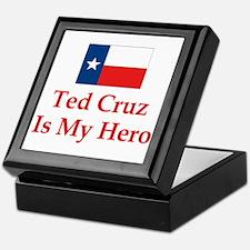 Ted Cruz is my hero Keepsake Box