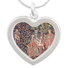 Royal Tapestry Silver Heart Necklace