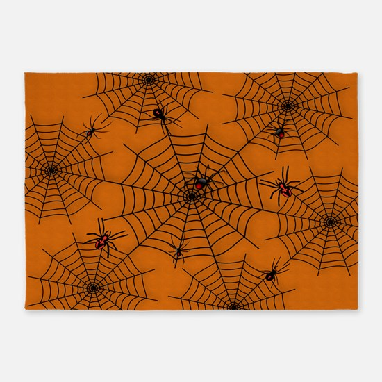Halloween Spider Web 5'x7'Area Rug