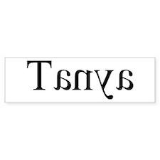 Tanya: Mirror Bumper Bumper Sticker
