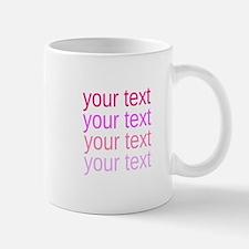 shades of pink text Mugs