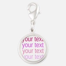 shades of pink text Charms