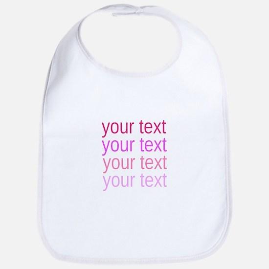 shades of pink text Bib
