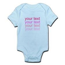 shades of pink text Body Suit
