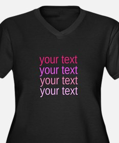 shades of pink text Plus Size T-Shirt