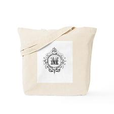Modern Vintage French monogram letter M Tote Bag