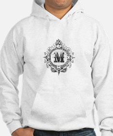 Modern Vintage French monogram letter M Hoodie