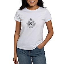 modern vintage monogram letter N T-Shirt