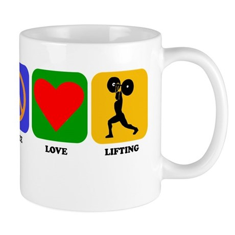 Peace Love Lifting Mugs