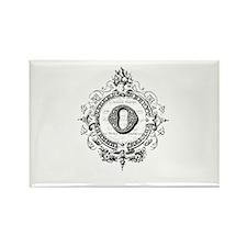 modern vintage monogram letter O Magnets