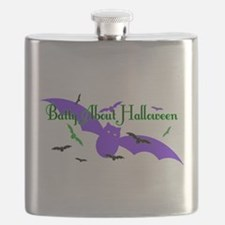 Batty About Halloween Flask