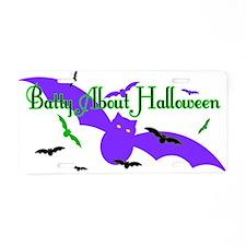 Batty About Halloween Aluminum License Plate