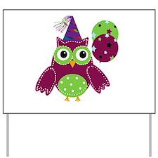 Birthday Owl Yard Sign