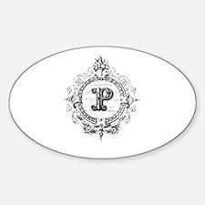 Modern Vintage French monogram letter P Decal